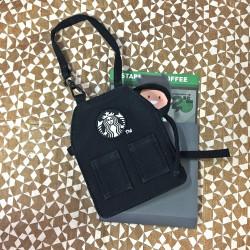 스타벅스 미니 앞치마 카드 지갑 블랙+그린 세트